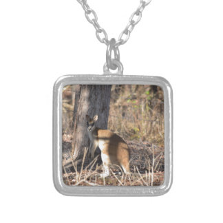 WALLABY RURAL QUEENSLAND AUSTRALIA SQUARE PENDANT NECKLACE
