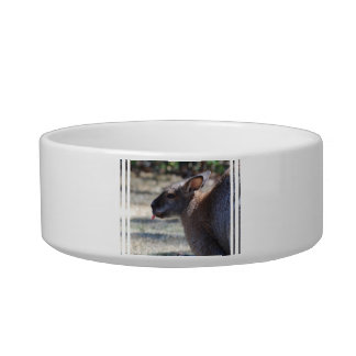 Wallaby Sticking Tongue Out Pet Water Bowls
