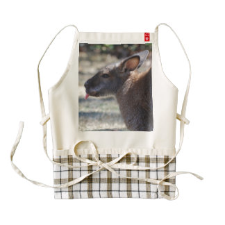 Wallaby Sticking Tongue Out Zazzle HEART Apron