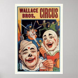 Wallace Bros. Vintage Circus Poster