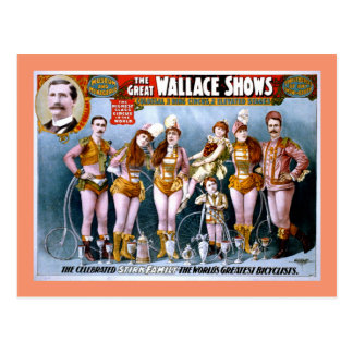 Wallace Circus Show Vintage Poster Postcard