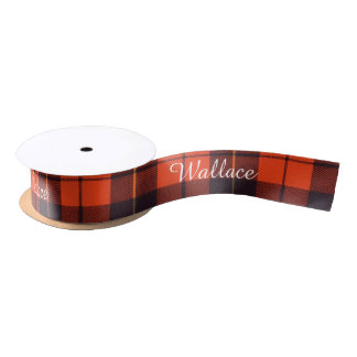 Wallace clan Plaid Scottish tartan Satin Ribbon