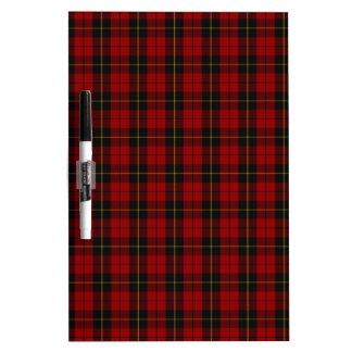 Wallace Clan Scottish Tartan Dry-Erase Whiteboard