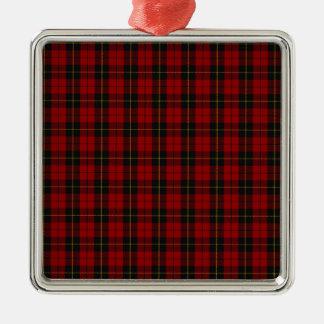 Wallace Clan Scottish Tartan Metal Ornament