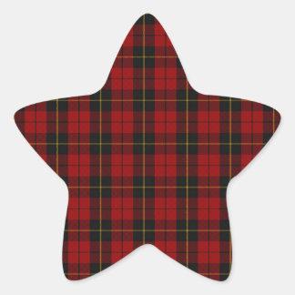 Wallace Clan Scottish Tartan Star Sticker