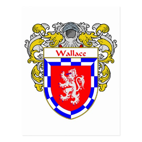Wallace Coat of Arms (Mantled) Postcard