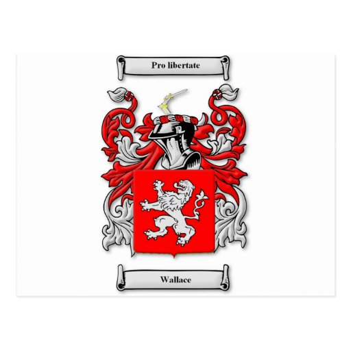 Wallace Coat of Arms Postcard