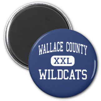 Wallace County - Wildcats - High - Sharon Springs 2 Inch Round Magnet