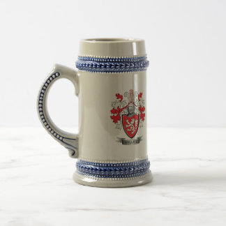 Wallace Family Crest Coat of Arms Beer Stein