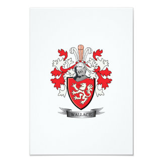Wallace Family Crest Coat of Arms Card