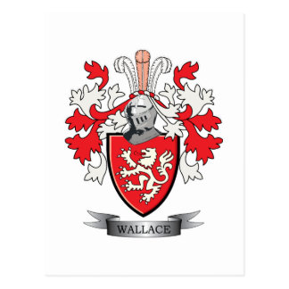 Wallace Family Crest Coat of Arms Postcard