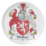 Wallace Family Crest Dinner Plates