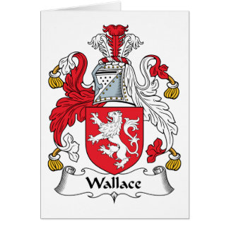 Wallace Family Crest Greeting Card