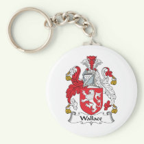 Wallace Family Crest Keychain