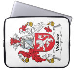 Wallace Family Crest Laptop Computer Sleeves