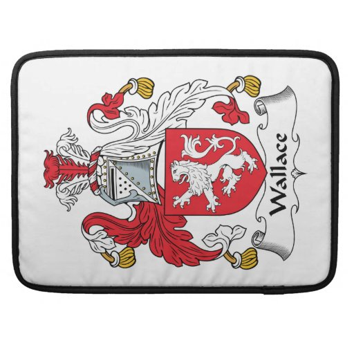 Wallace Family Crest Sleeves For MacBook Pro
