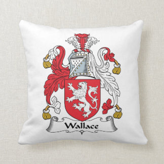 Wallace Family Crest Throw Pillow