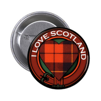 Wallace Heart Tartan design - I Love Scotland 2 Inch Round Button