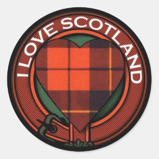 Wallace Heart Tartan design - I Love Scotland Classic Round Sticker
