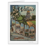 Wallace, Idaho - Large Letter Scenes Greeting Card