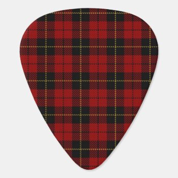 Wallace Plaid Guitar Pick by AmberNP at Zazzle
