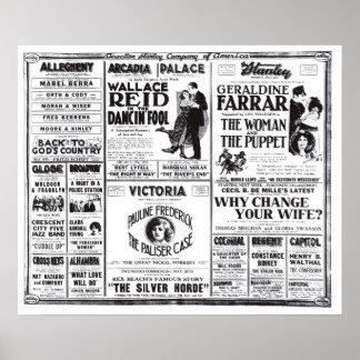 Wallace Reid 1920 vintage movie ad poster