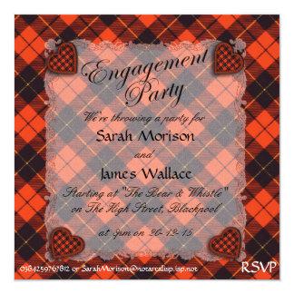Wallace Scottish clan tartan - Plaid Card