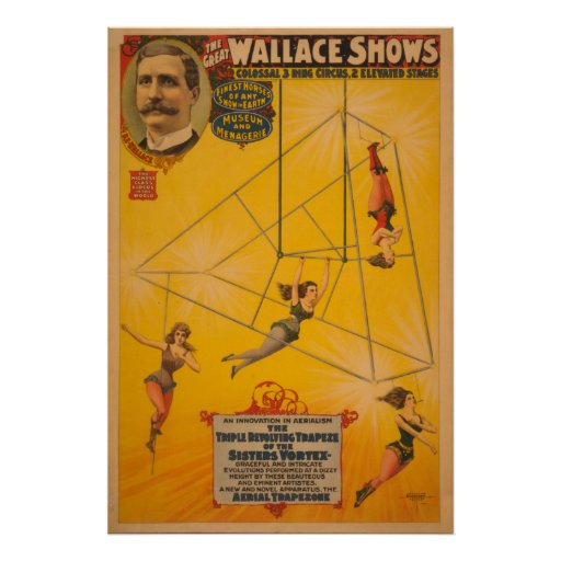 Wallace Shows Triple Revolving Trapeze Poster