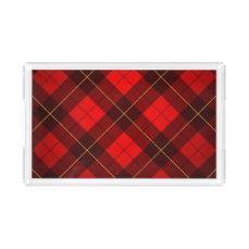 Wallace tartan background acrylic tray