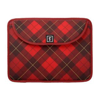 Wallace tartan background sleeve for MacBook pro