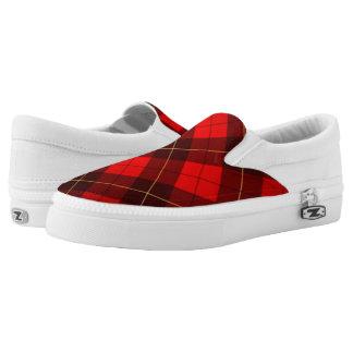 Wallace tartan background Slip-On sneakers