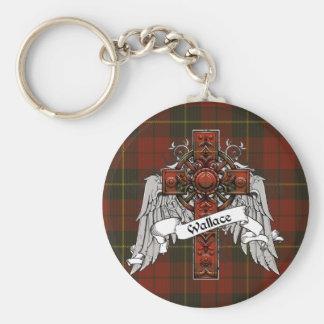 Wallace Tartan Cross Keychains