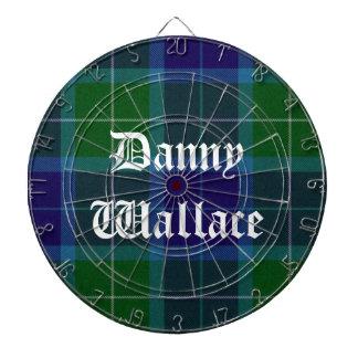 Wallace Tartan Plaid Custom Dart Board