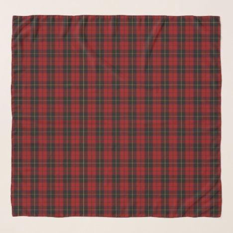 Wallace Tartan Scottish Clan Plaid Pattern Scarf