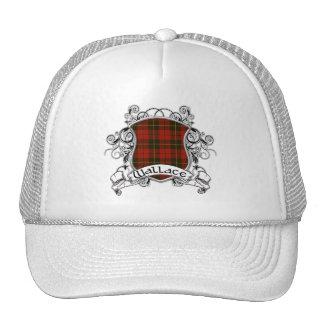 Wallace Tartan Shield Mesh Hats