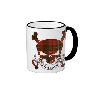 Wallace Tartan Skull Coffee Mugs