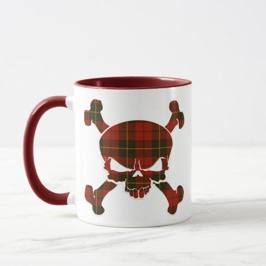 Wallace Tartan Skull No Banner Mug