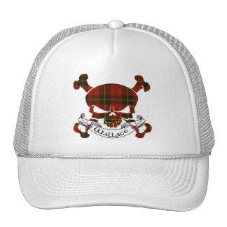 Wallace Tartan Skull Trucker Hats
