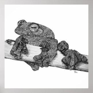 Wallaces Flying Frog Art Print