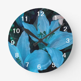 WALLCLOCK IN FLOWER BLUE !!JUST FOR YOU!!