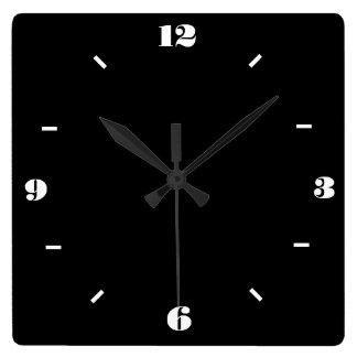 Wallclocks blanco y negro de moda reloj de pared