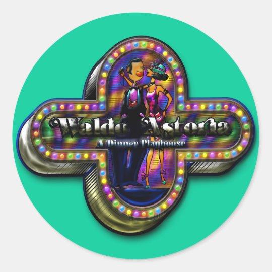 Walldo Astoria Classic Round Sticker