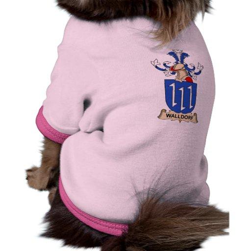 Walldorf Family Crest Pet T Shirt