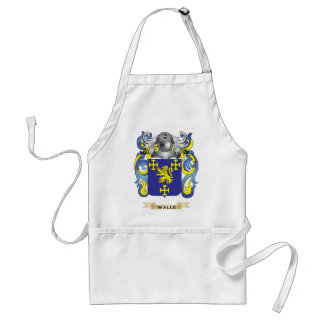 Walle Family Crest Coat of Arms Apron