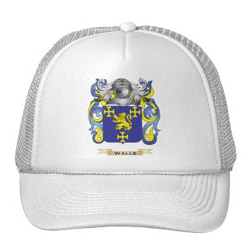 Walle Family Crest (Coat of Arms) Trucker Hats