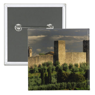 Walled city of Monteriggioni, in the province of Button
