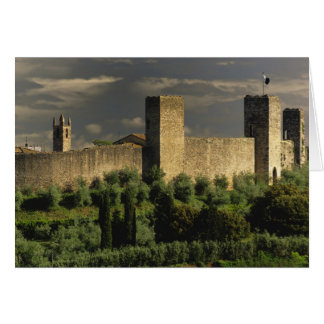 Walled city of Monteriggioni, in the province of Card
