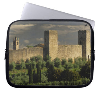 Walled city of Monteriggioni, in the province of Laptop Sleeve