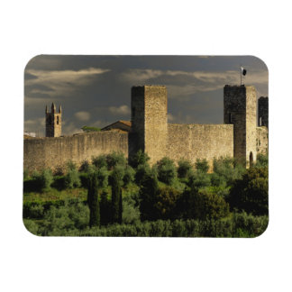 Walled city of Monteriggioni, in the province of Magnet