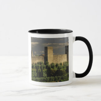 Walled city of Monteriggioni, in the province of Mug